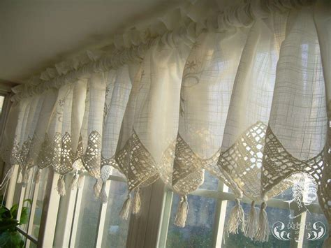 set of country lace crochet cafe kitchen curtain with valance 013 ebay