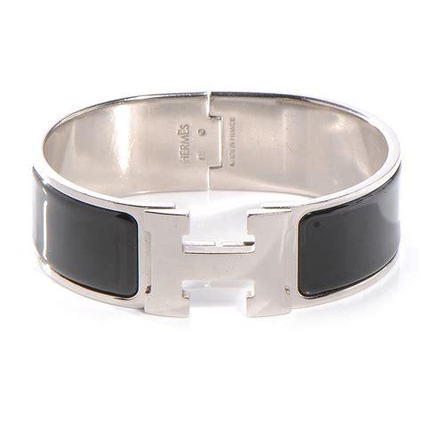 hermes enamel clic clac h bracelet wide pm black 53920