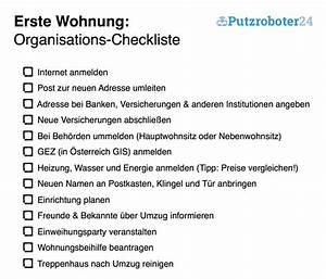 Wohnung Putzen Checkliste : erste wohnung checklisten f r den umzug organisation m bel zubeh r ~ Markanthonyermac.com Haus und Dekorationen