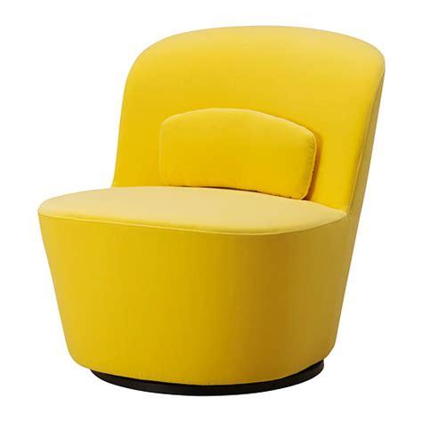 stockholm fauteuil pivotant sandbacka jaune ikea