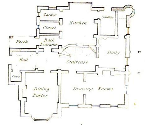 floor plan of a vicarage from 1816 susanna ives