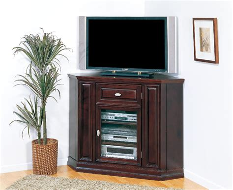 furniture black corner tv cabinet with framed glass doors and shelves great corner