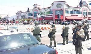 Large Police Presence in Huntington Park as Netherlands ...