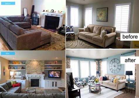 living room makeovers before and after pictures small living room furniture arrangement ideas