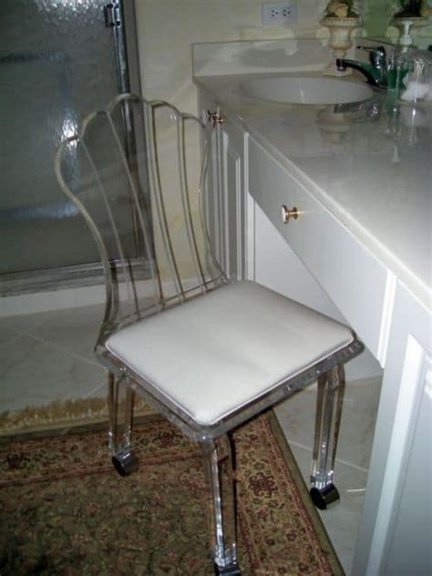 the chic vanity chairs for bathroom shower remodel