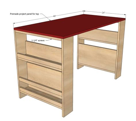 comfortable diy storage leg desk for kidsomania