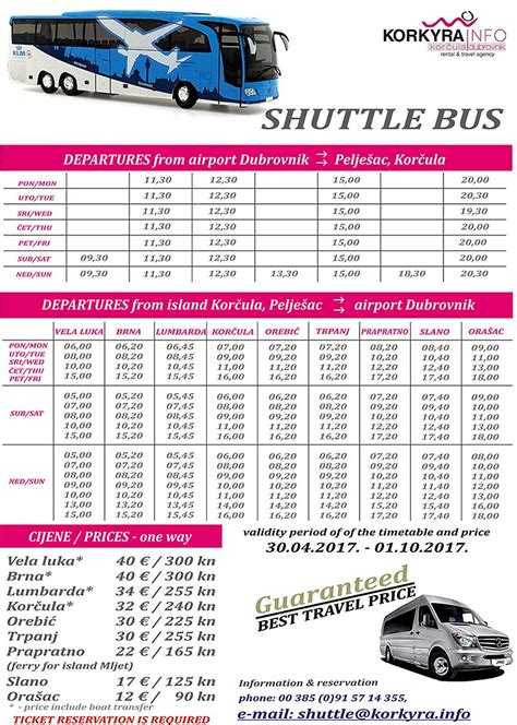Bus From Dubrovnik To Hvar Town by Airport Bus Shuttle Dubrovnik Airport To Korcula Island