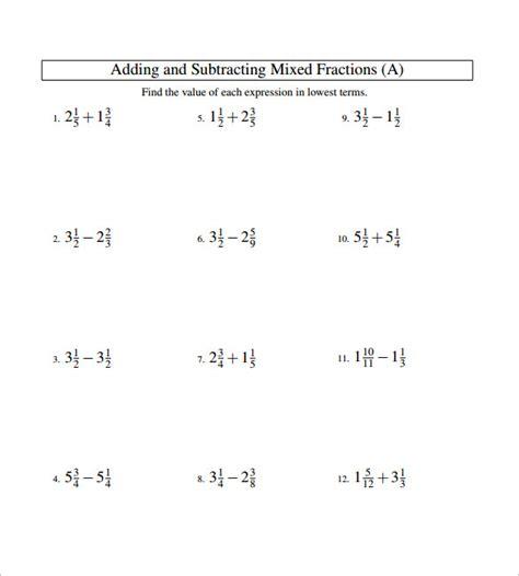 Number Names Worksheets » Fraction Problems Worksheet  Free Printable Worksheets For Pre School