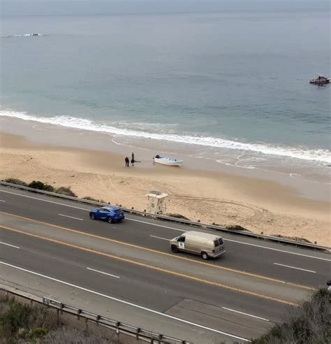 Panga Boat Lands In Crystal Cove by Laguna Beach Local News Second Smuggling Boat Runs Aground