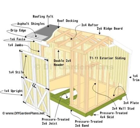 material cut list saltbox shed plans page 3