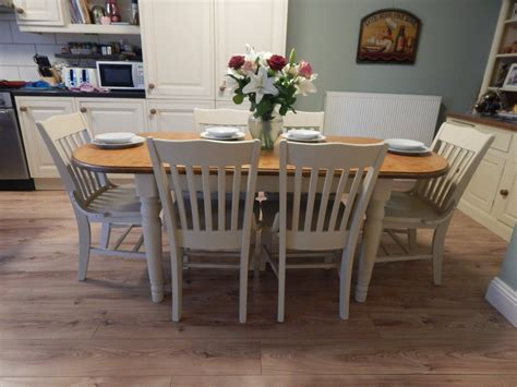 Shabby Chic , Ducal Pine Extending Dining Table & Chairs