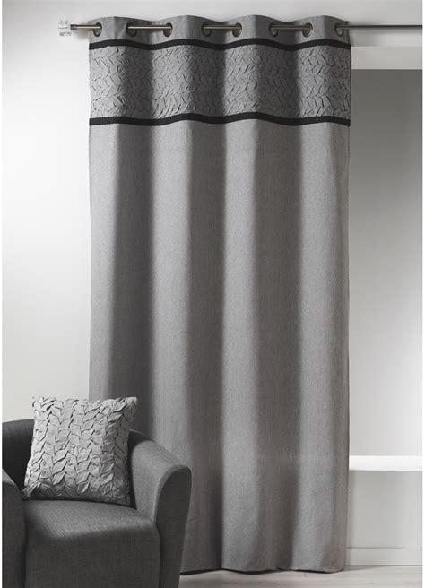 rideau en toile de coton avec parement 224 plis gris gris homemaison vente en ligne rideaux