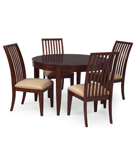 prescot dining room furniture 5 set table and 4 slat back chairs furniture macy s