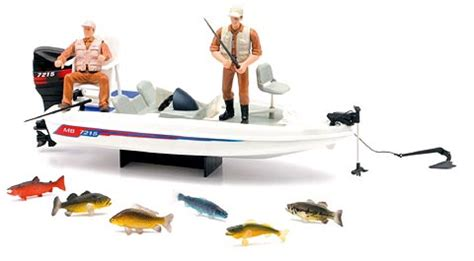 Toy Bass Boat by New Ray Toys Hunting Playset Bass Boat 2 Fishing Rods