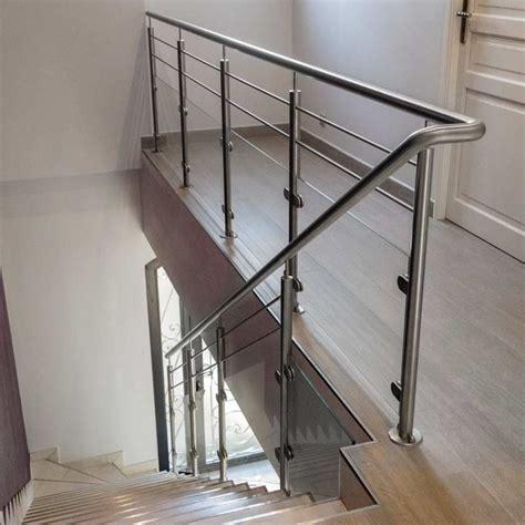 rambarde verre et 2 barres pour escalier int 233 rieur inoxdesign