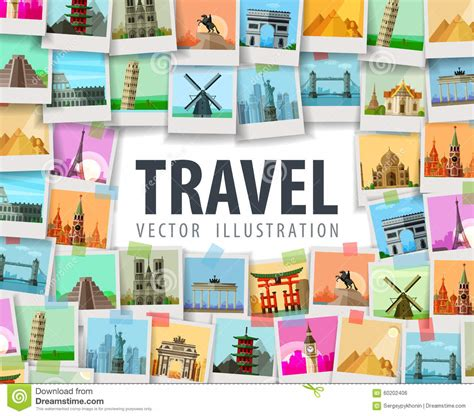 Travel Collage Templates by Logo Travel Agency Template Design Vector Or Icon Cartoon
