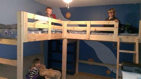 187 lshaped bunk bed building plans pdf make bunk