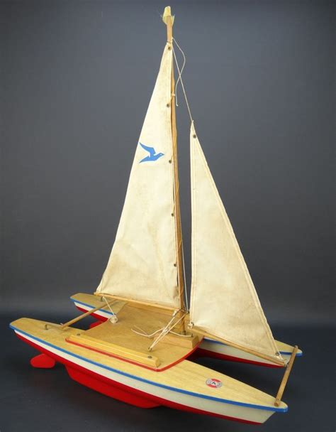 Sailing Boat Retro by Vintage Seifert Boat Boot Germany Catamaran Sail Boat 20