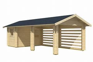 Holzgarage Mit Carport : carport holz mit abstellraum ~ Markanthonyermac.com Haus und Dekorationen