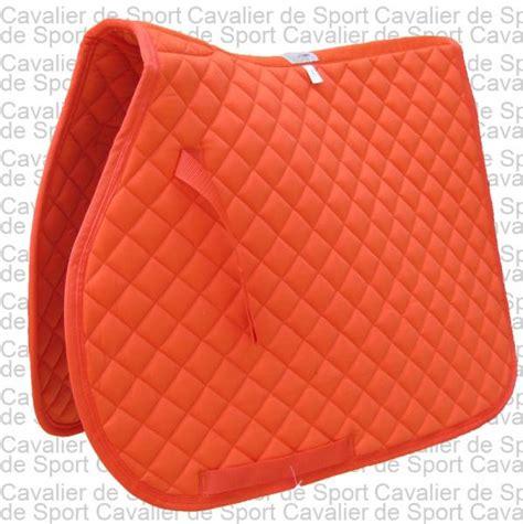tapis de selle mixte club orange mixte sellerie cavalier de sport