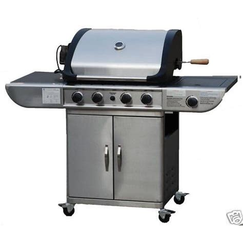 barbecue royal 224 gaz inox avec plancha et grill pas cher