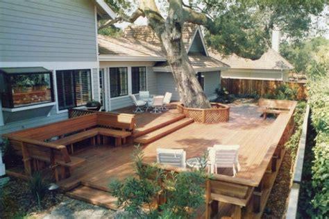backyard decks this large backyard deck has a lot