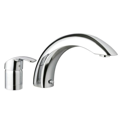 bathtub faucet single handle grohe smart single handle 2 deck mount tub