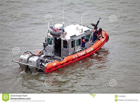 Coast Guard Inflatable Boats For Sale by The United States Coast Guard Boat On Hudson River
