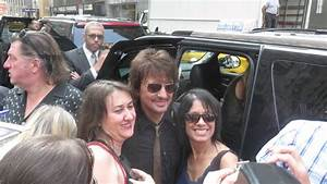 Richie Sambora posing with fans after jam session on Today ...