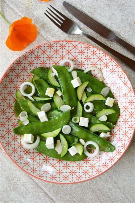 recettes de pois gourmands par flo au fil du thym salade de pois gourmands courgette feta et