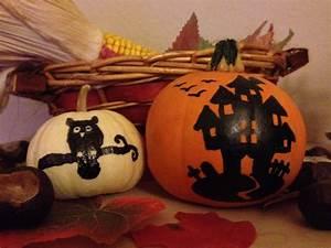 Bemalte Kürbisse Vorlage : halloween k rbis bemalen statt schnitzen mit vorlagen kinderzeugs ~ Markanthonyermac.com Haus und Dekorationen