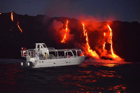 Pictured Rocks Boat Tour Private by Lava Boat Tours Big Island Lava Tours Hawaii Volcano Tours