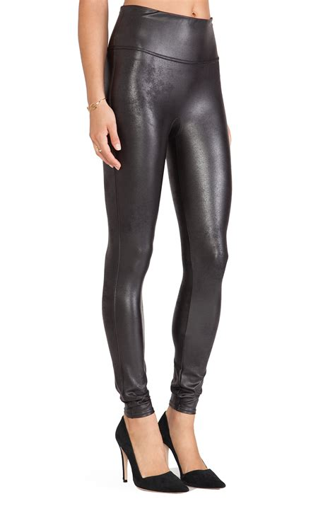 Spanx Faux Leather Leggings In Black Lyst