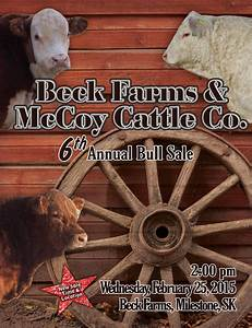 Beck Farms & McCoy Cattle Co. 6th Annual Bull Sale by ...