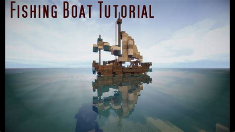 How To Make A Little Boat In Minecraft by Minecraft Tutorial Small Fishing Boat Youtube