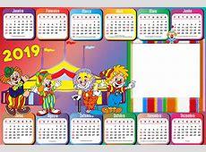 Calendário 2019 Circo Infantil Imagem Legal