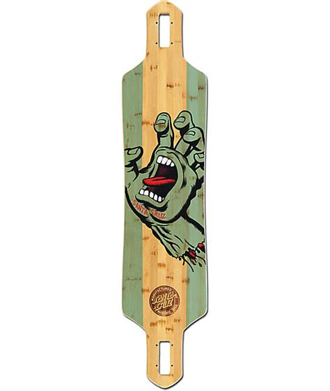 santa stained bamboo 41 quot drop through longboard deck at zumiez pdp