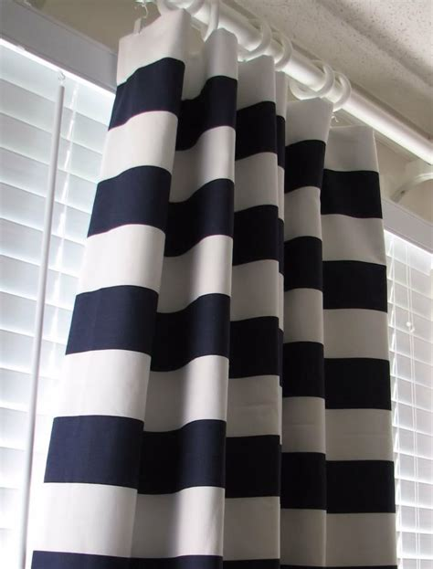 Navy Striped Curtain Panels by Simple Style Bathroom Decor With Navy Blue White Striped