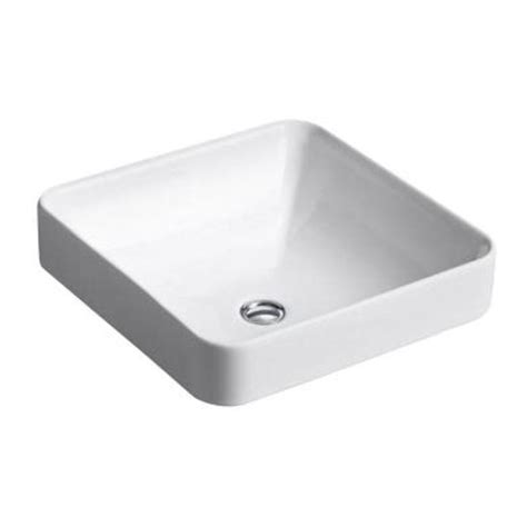 Kohler Vox Sink Template by Kohler Vox Vitreous China Vessel Sink In White With