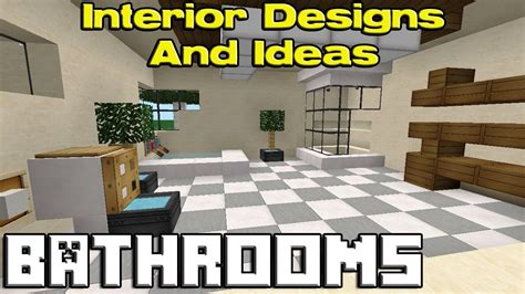decoration ideas bathroom ideas minecraft pe
