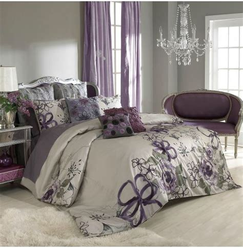 Lavender And Grey Bedding by Wall Color Purple Curtains Bedspread Bedroom