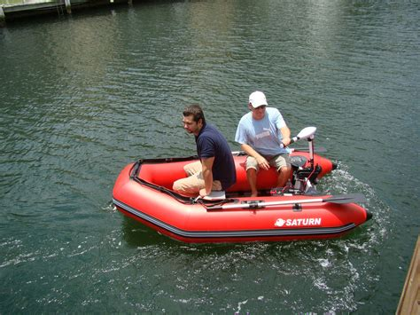 Inflatable Boat With Motor by 8ft 6in Slatted Aluminum Floor Saturn Inflatable Boat