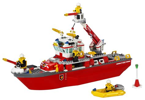 Toy Lego Boat by Lego City Fire Boat Lego Toys For Kids Youtube