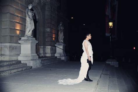robe en papier par kirsten c m 233 tiers de la mode design robes