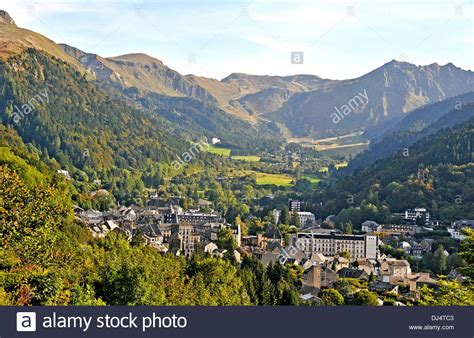 le mont dore city and sancy range puy de dome auvergne massif central stock photo royalty free