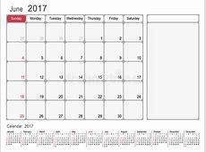Calendar Planner June 2017 stock vector Illustration of