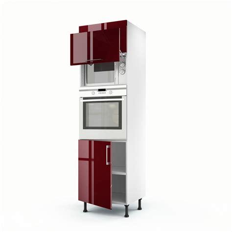 meuble de cuisine colonne 3 portes griotte h 200 x l 60 x p 56 cm leroy merlin