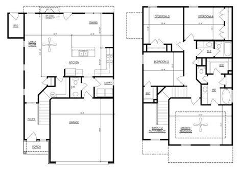 Family House Plans 4 Bedrooms Kitchen Contact Paper Designs Colours And Malaysia Design Wall Tiles U Shaped Layout Practical For Small Kitchens Open With Living Room New