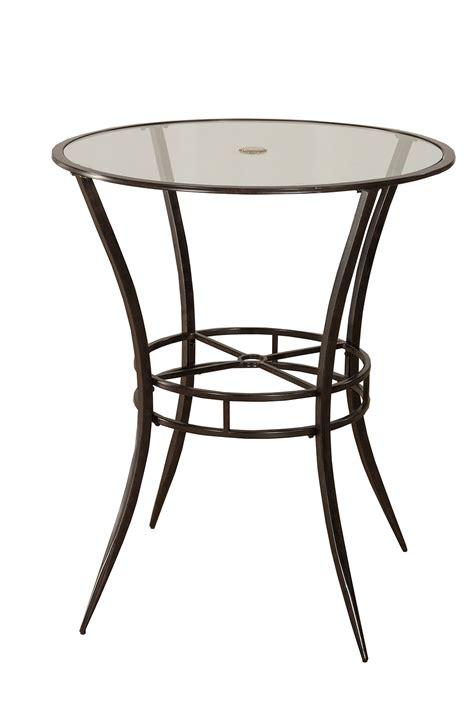 hillsdale 6323ptb indoor outdoor bar height bistro table