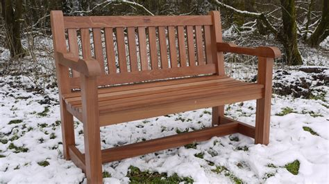 Hardwood Garden Bench  Sapele  The Wooden Workshop